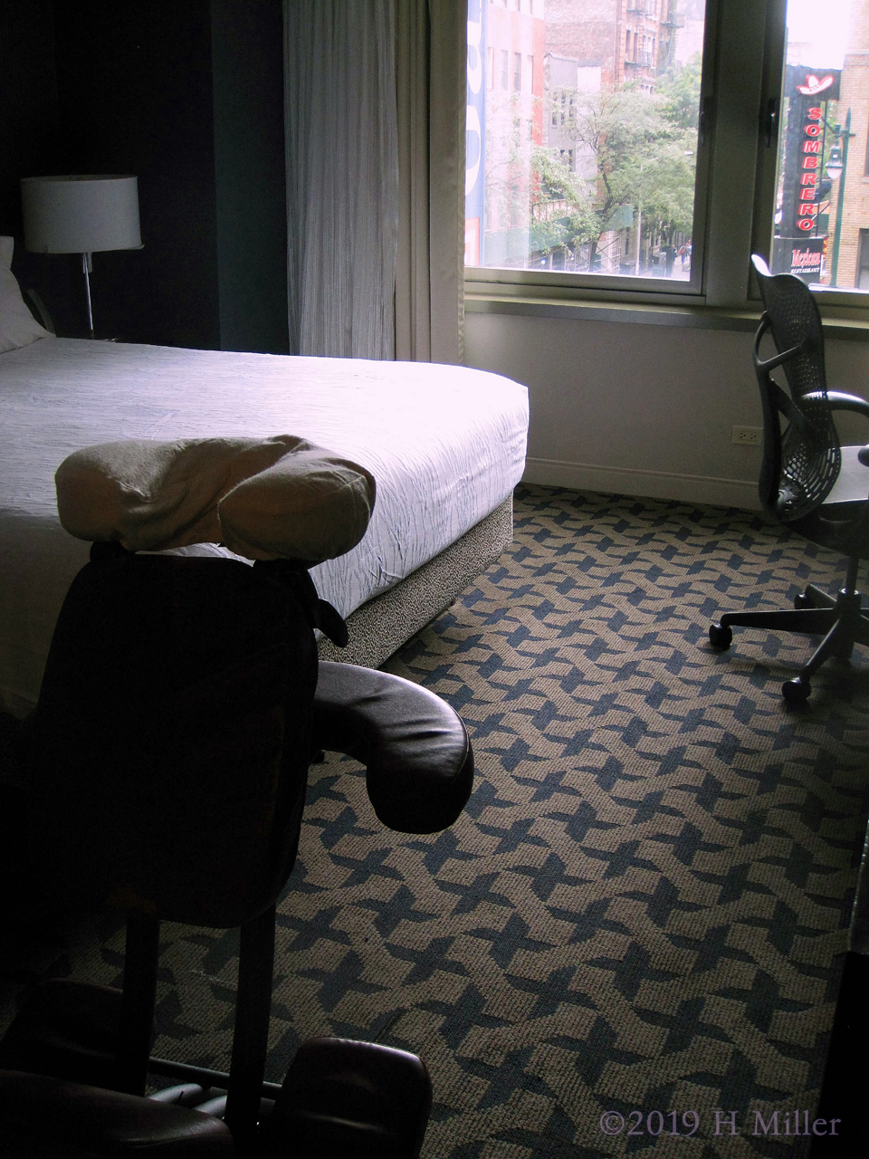 Chair Massage In The Hotel Room For Housekeeping Staff During International Housekeeping Week